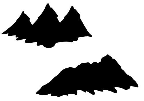 Silhouette vector with and. Hills clipart mountain slope
