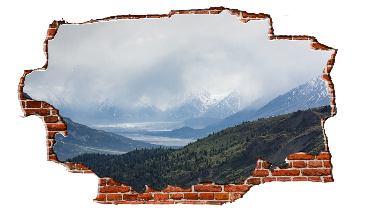Cloudy breaking wall nature. Hills clipart mountain stream