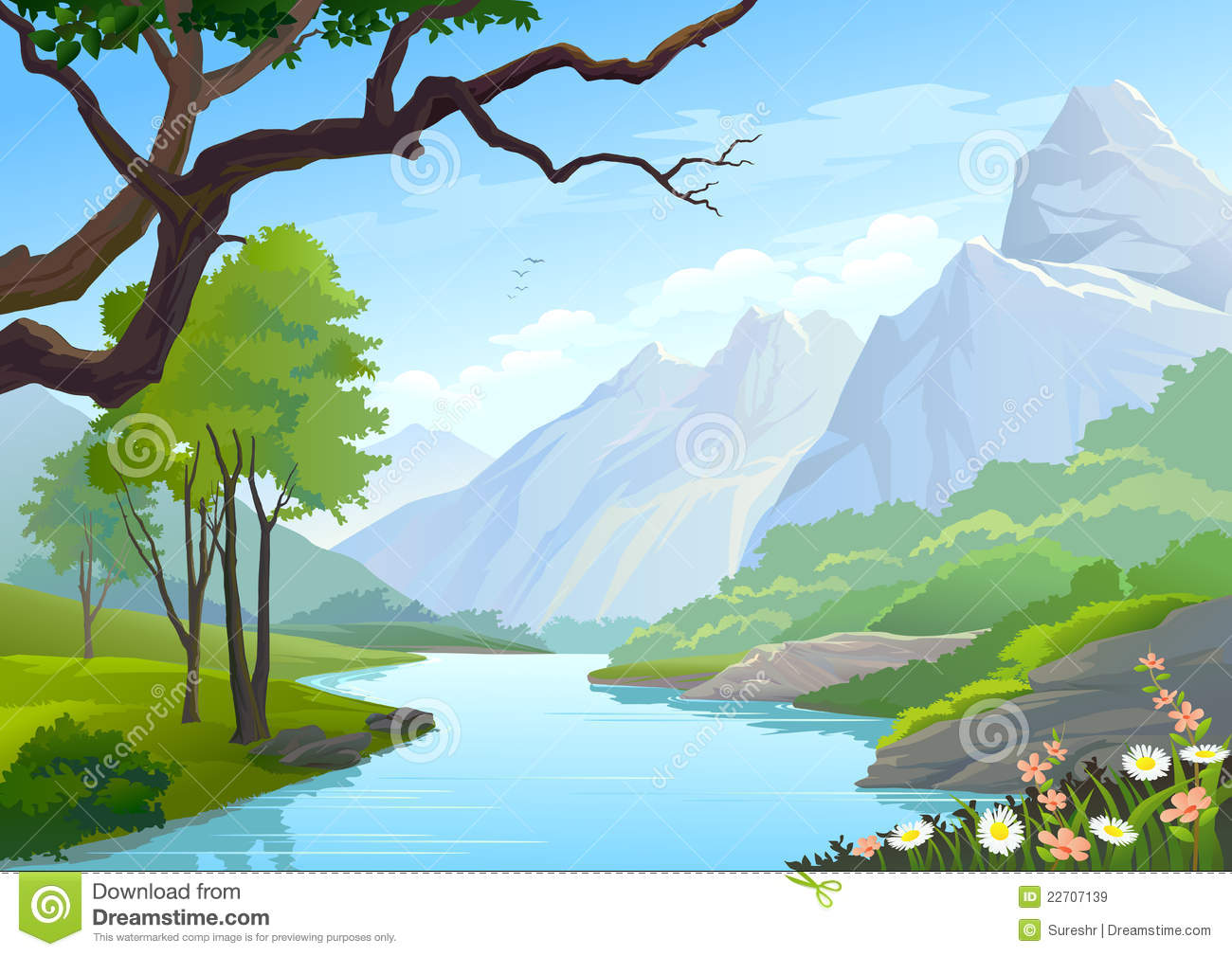 Valley suggest stained . Hills clipart mountain stream