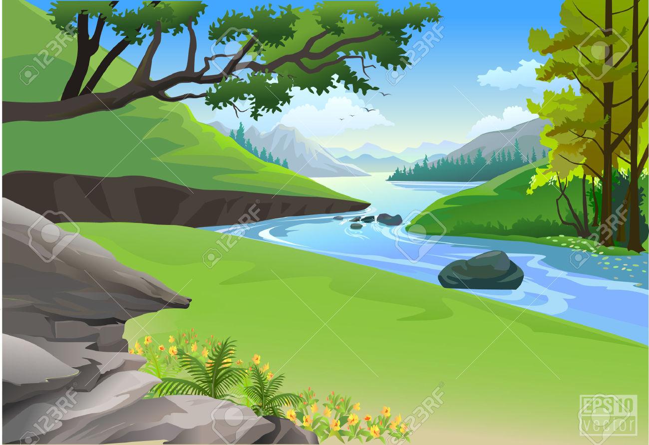 Hills clipart mountain stream.  clipartlook