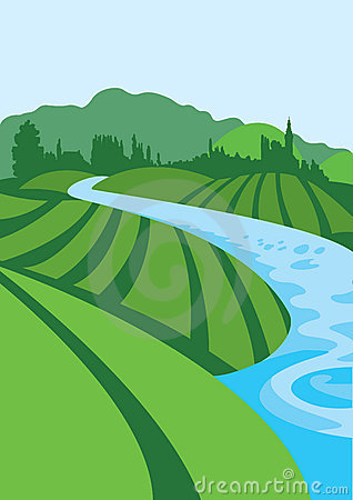 Graphics for clipartpost . Hills clipart river flow