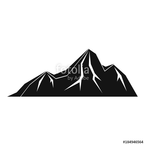 Icon simple illustration of. Hills clipart tall mountain