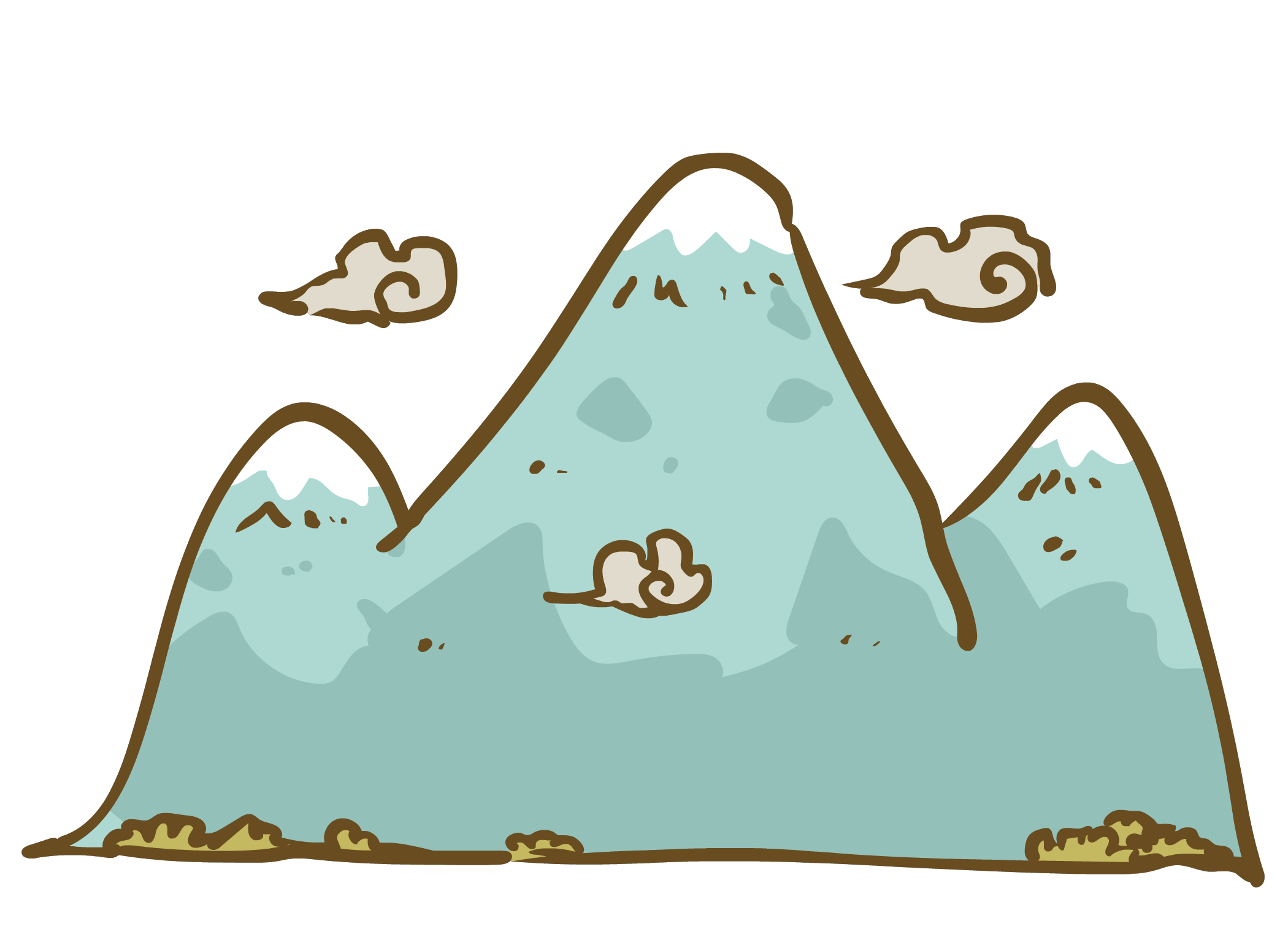 Hills clipart two mountain. Learning japanese kanji with