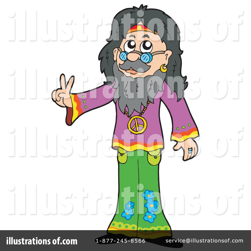 Illustration by visekart royaltyfree. Hippie clipart