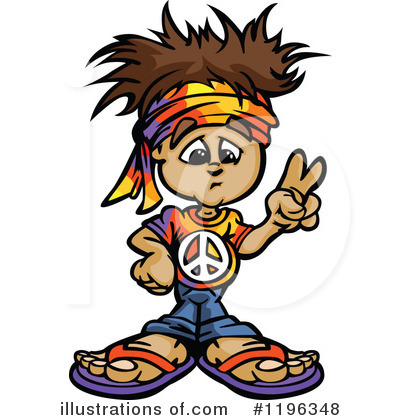 Hippie clipart. Illustration by chromaco royaltyfree