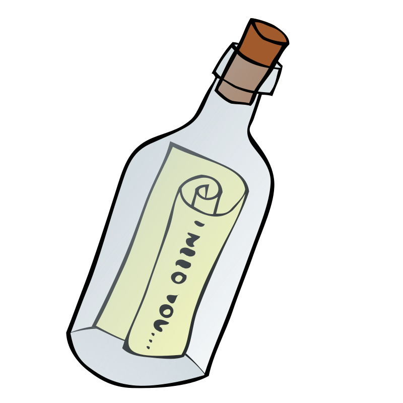 Message in a bottle. Hippie clipart class esl