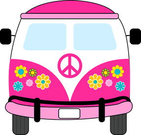 Hippie clipart combi. Pin by debbie griswold