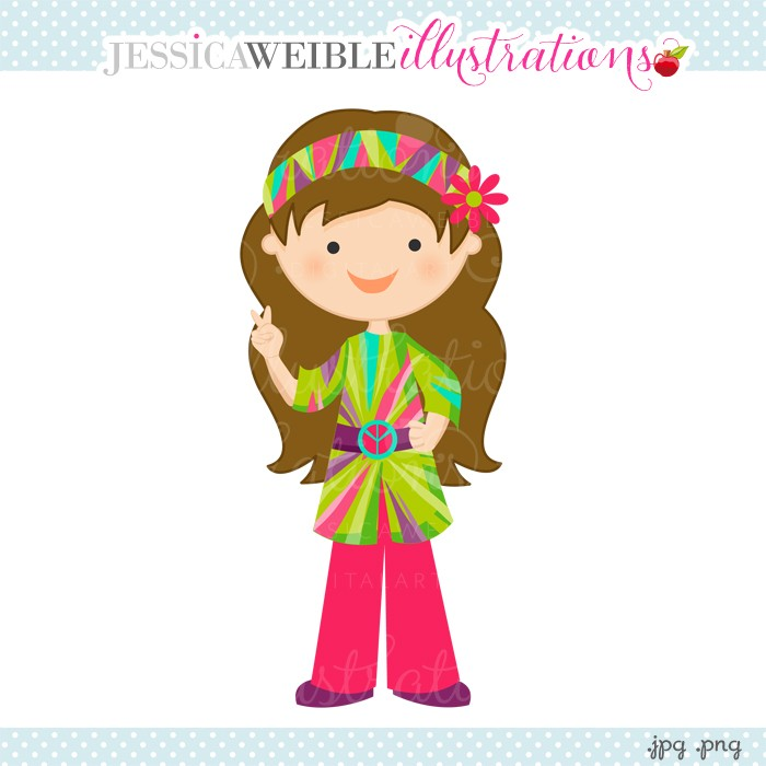 Free cartoon cliparts download. Hippie clipart cute