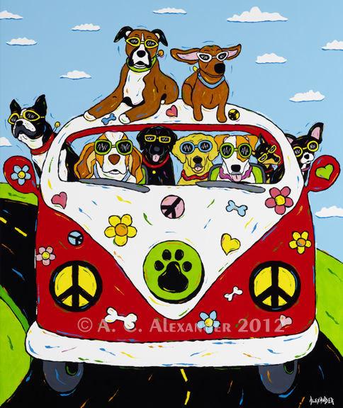 hippie clipart dog