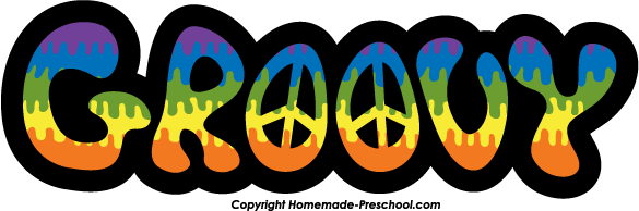 Hippie clipart feeling groovy. Jargon slang hippiefont rock