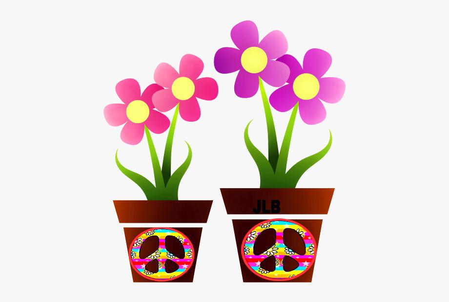 Real pots clip art. Hippie clipart flower child