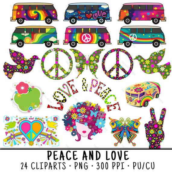 Peace clipart hippie. Sign clip art bus