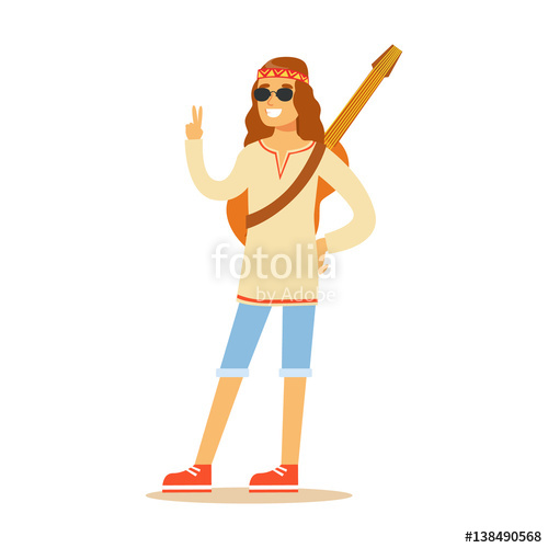 Hippie clipart hippie clothes. Guy dressed in classic
