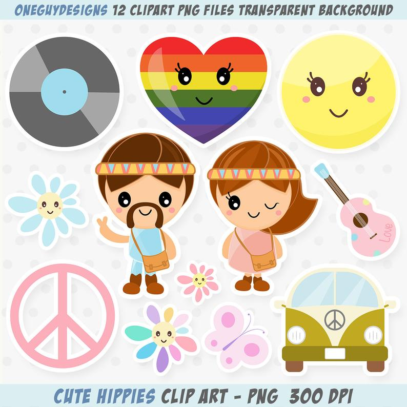 Hippie clipart hippie clothes. Kawaii hippy clip art