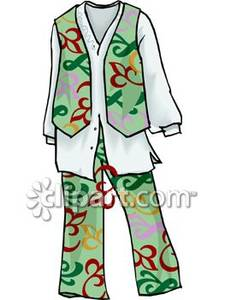 Hippie clipart hippie clothes. Pants with a matching