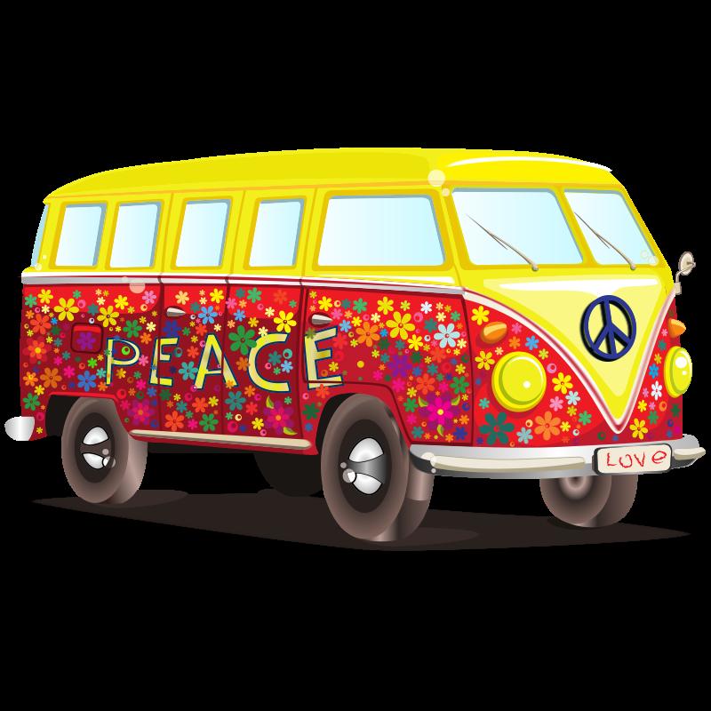 Peace and art work. Hippie clipart love logo