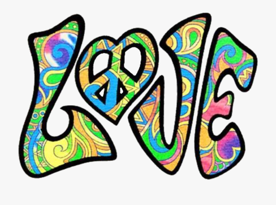 Hippie clipart love logo. Retro psychedelic peace hippies