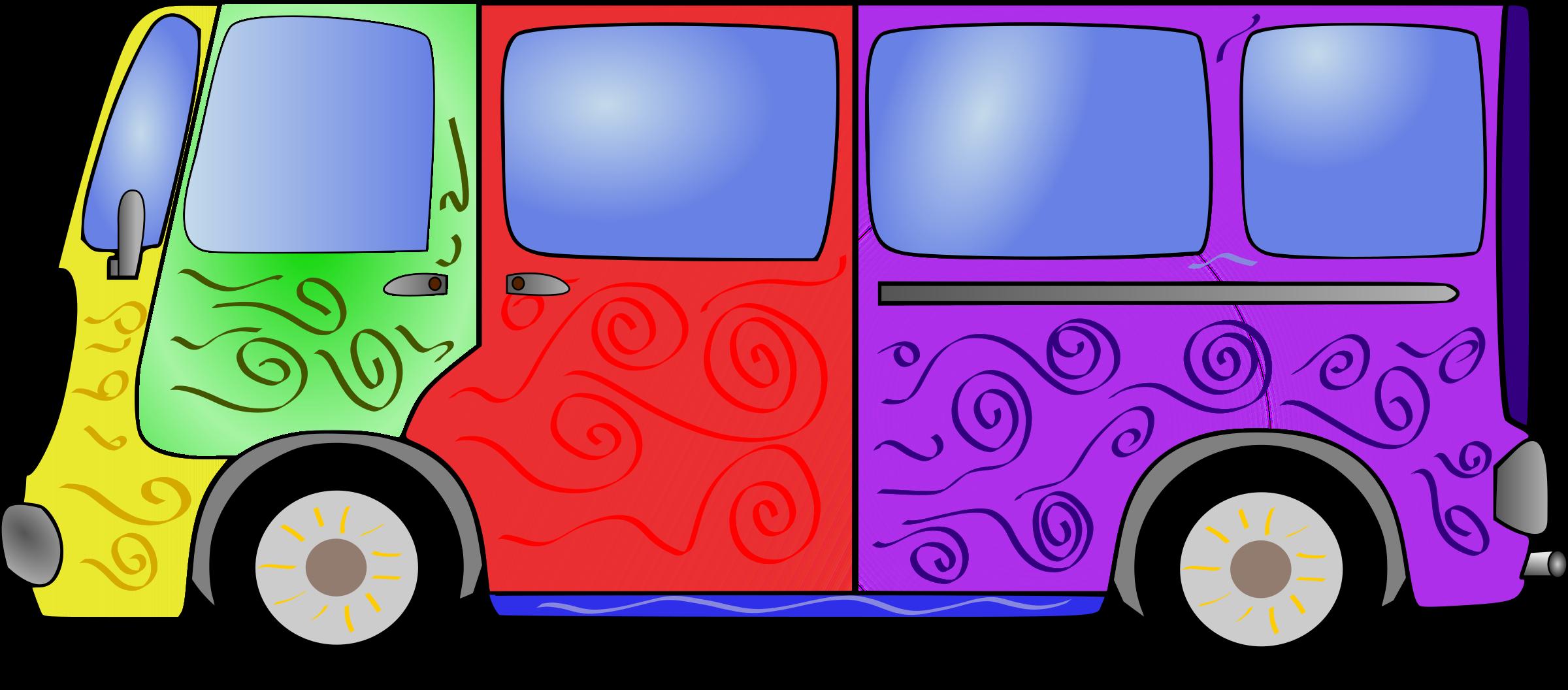 Minivan clipart small bus. Hippie van big image
