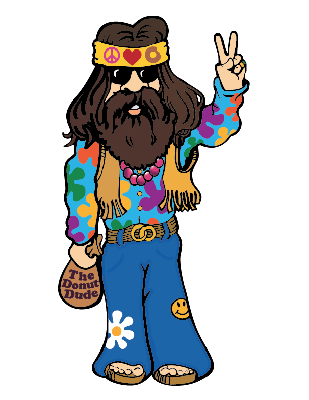 Hippie clipart peace quiet. Love little donuts view