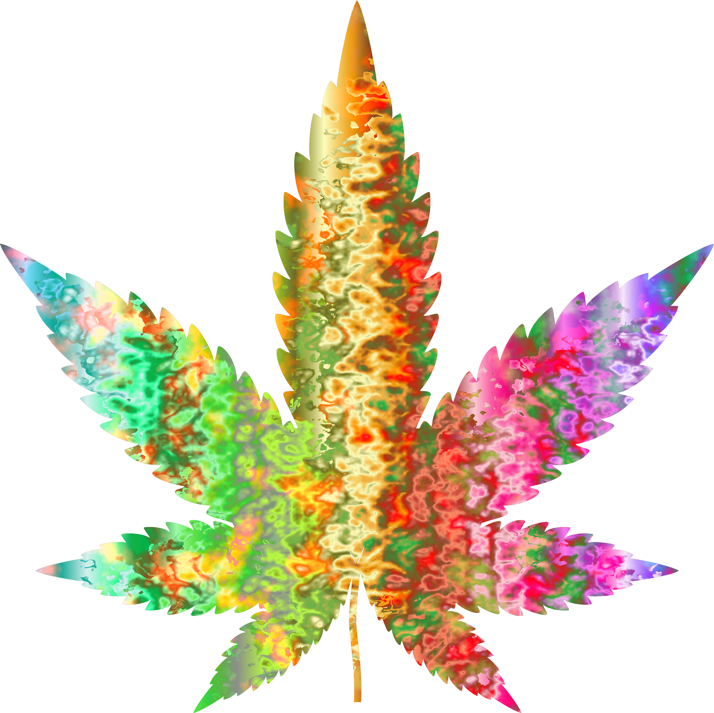 Marijuana clipart silhouette. Psychedelic leaf big image