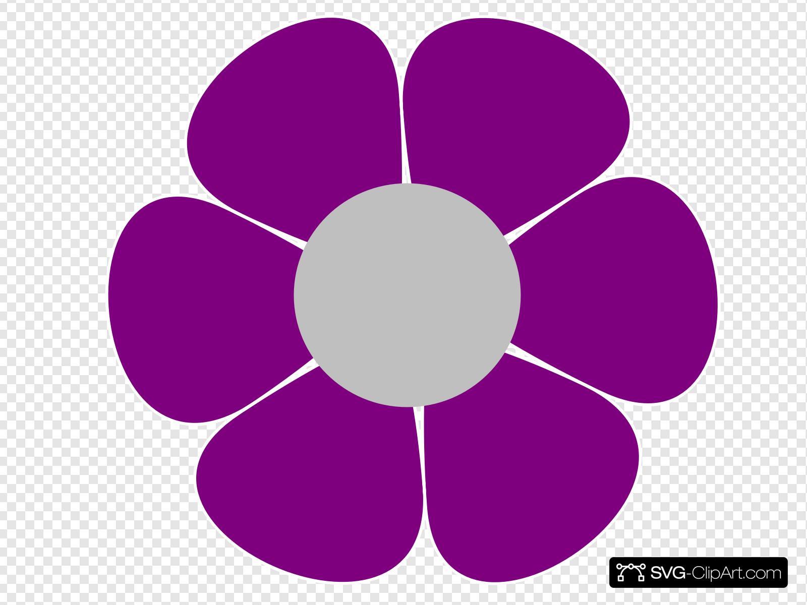 Hippie clipart svg. Flower clip art icon