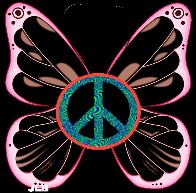 Hippie clipart trippy.  butterfly jlb peace