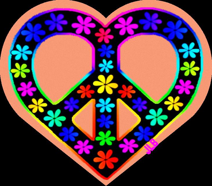 jlb peace love. Hippie clipart trippy