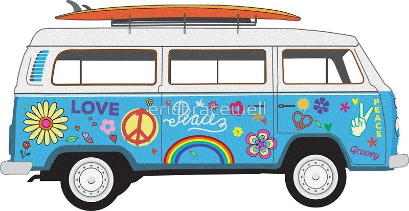 Collection of free download. Hippie clipart van