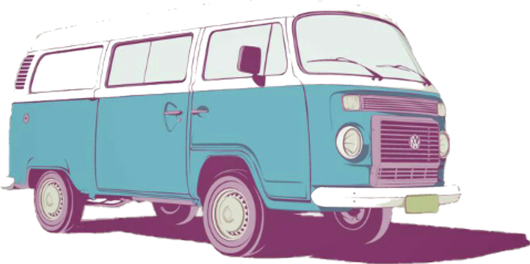 Hippie clipart van. Tumblr sticker by orisitreal