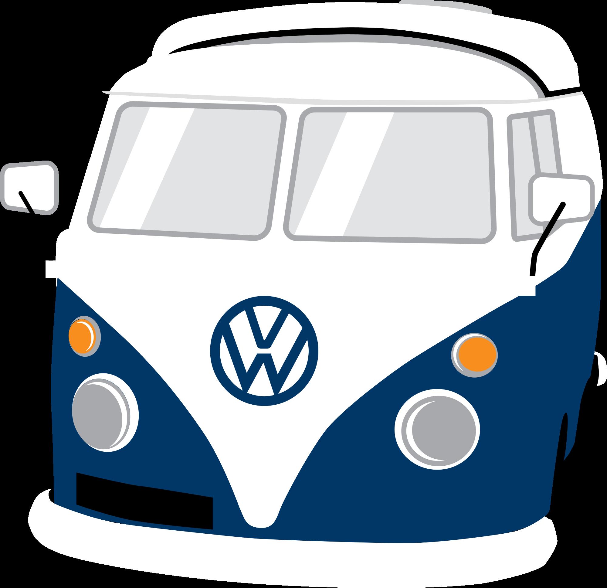 Volkswagen bus mini. Hippie clipart van