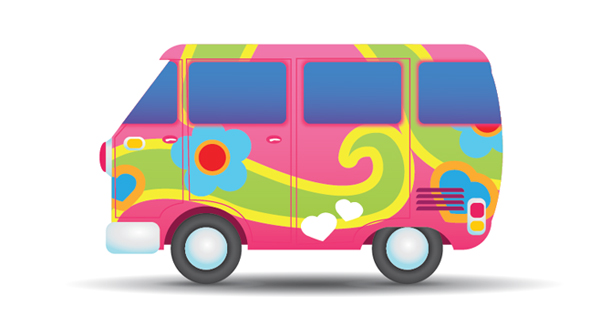 Hippie clipart van. Free images download clip