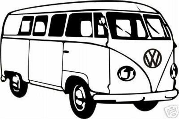 Vw hippie van cliparthut. Minivan clipart campervan