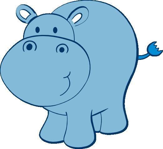 Cute . Hippo clipart