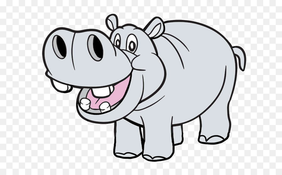 Hippopotamus clipart. Free content download stock
