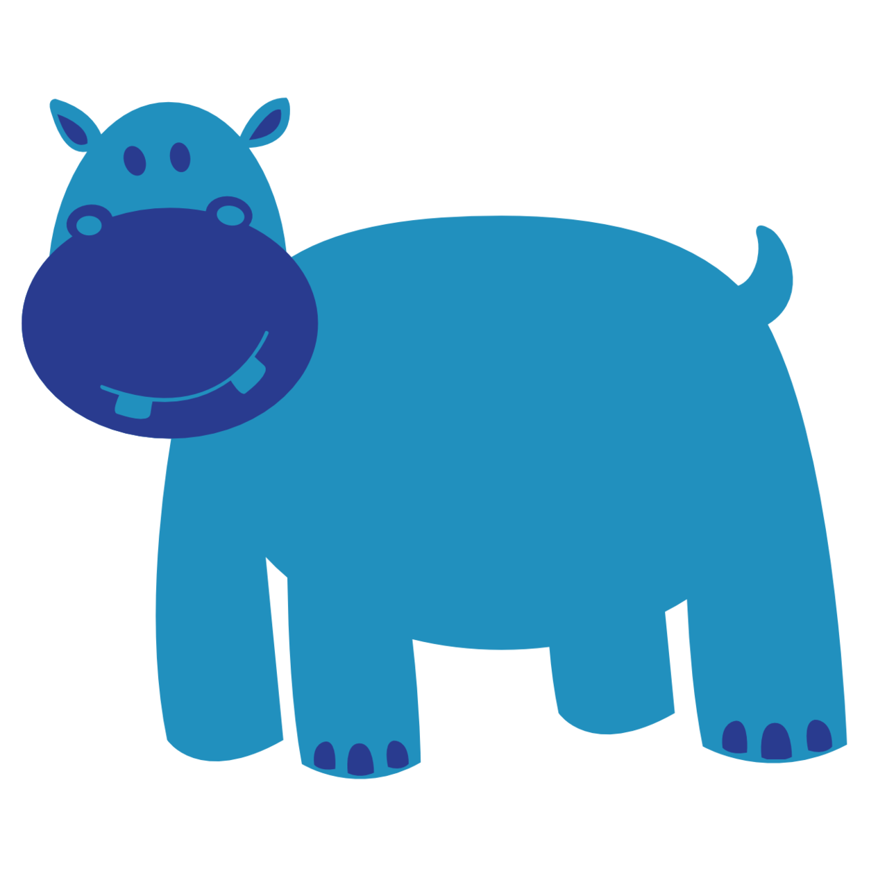 Hippo clipart chibi.  collection of blue