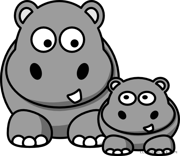 Clipartblack com animal free. Hippo clipart drawn