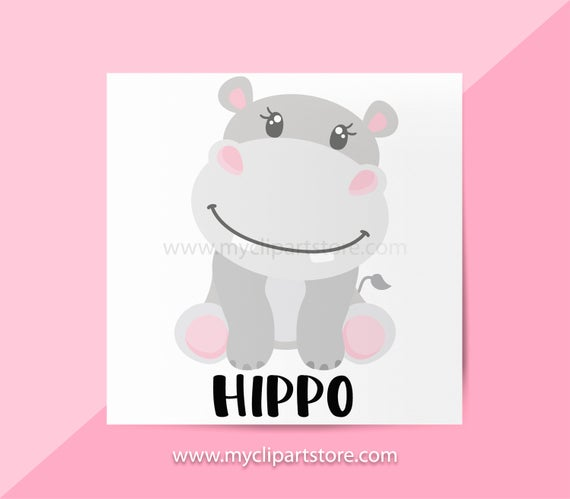 Single jungle animals african. Hippo clipart hippo animal