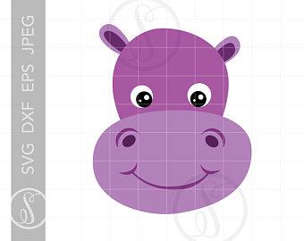 Hippo clipart hippo animal. Etsy