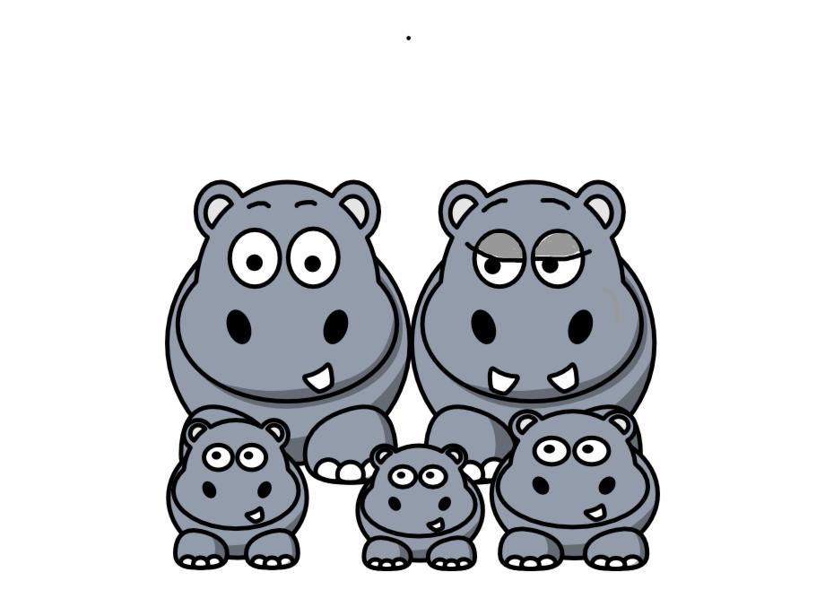 Hippo clipart hippopotamus. Family svg clip arts