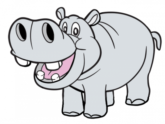Hippo clipart kid. Dog bone cartoon free
