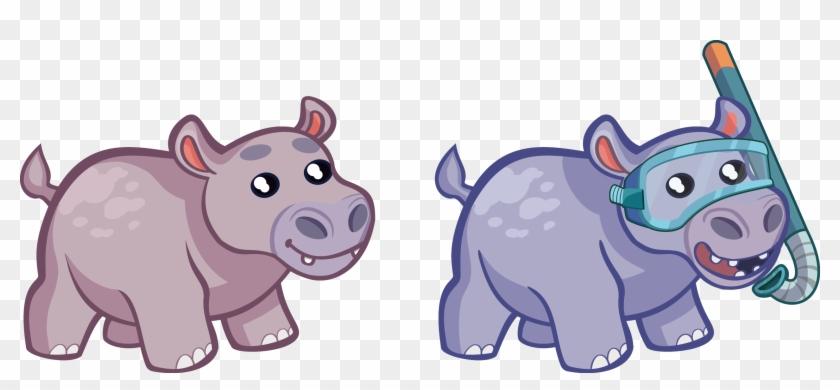 Hippo clipart mask. Hippopotamus hd png download