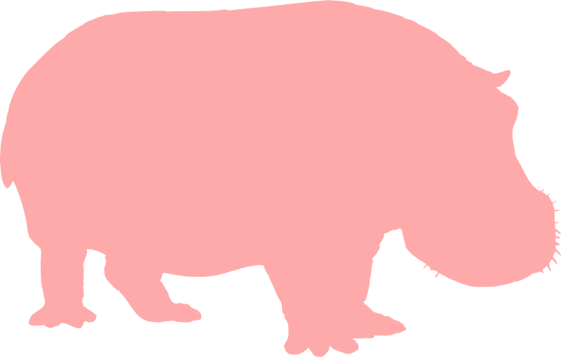 Silhouette medium image png. Hippo clipart pink hippo