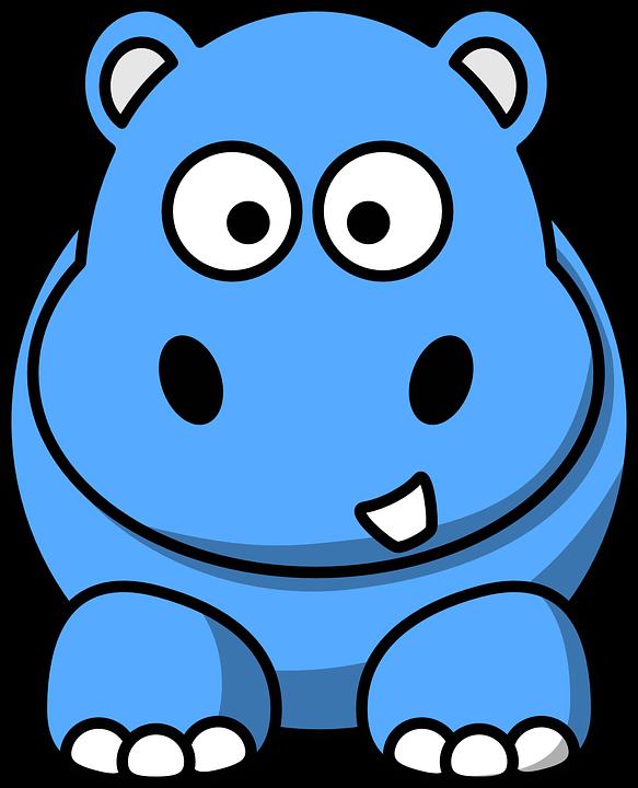 Hippopotamus blue x dumielauxepices. Hippo clipart real