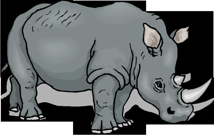 Sad clipart rhino. Free rhinoceros