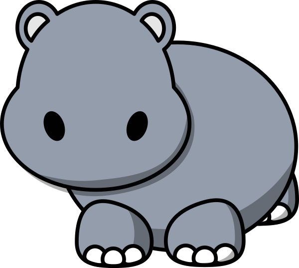 Hippo clipart svg. With no eyes clip