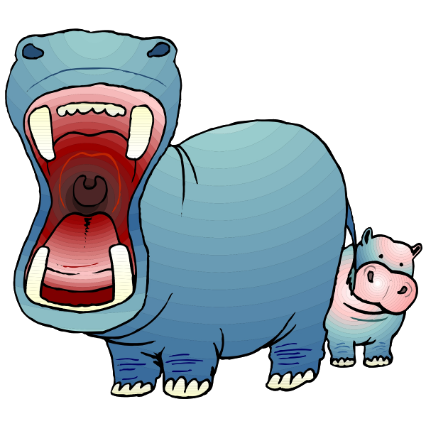 Baby at getdrawings com. Hippo clipart swimming