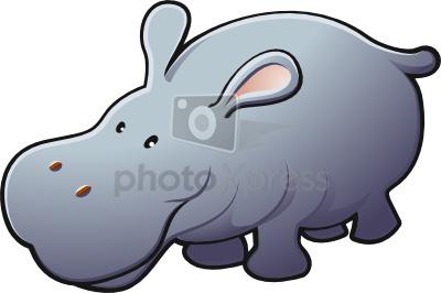 Hippopotamus clipart. Hippo clip art panda