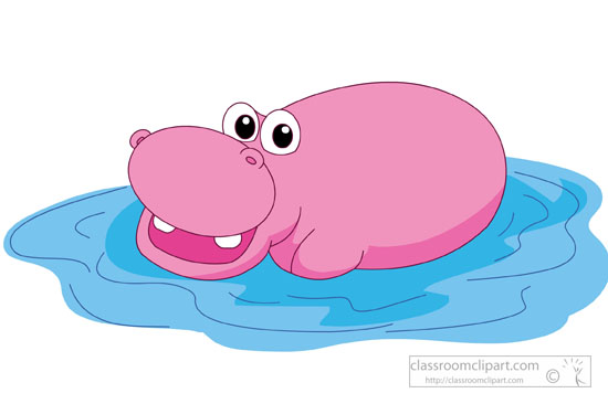 Hippo clipart. Free clip art pictures