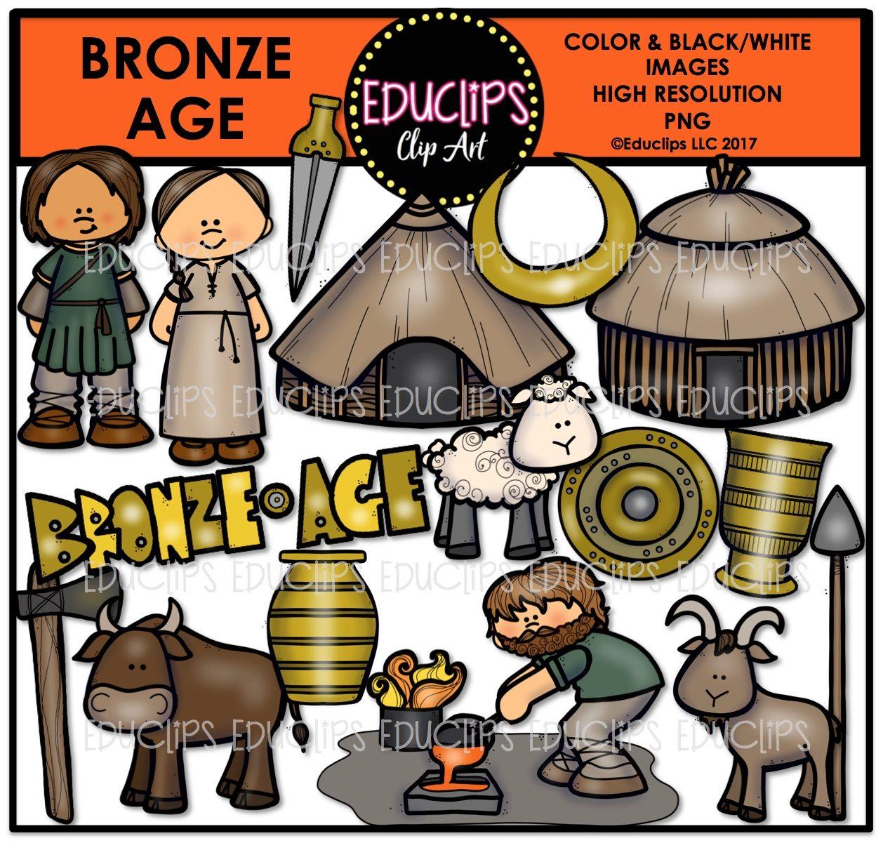 History clipart bronze age. Clip art big bundle