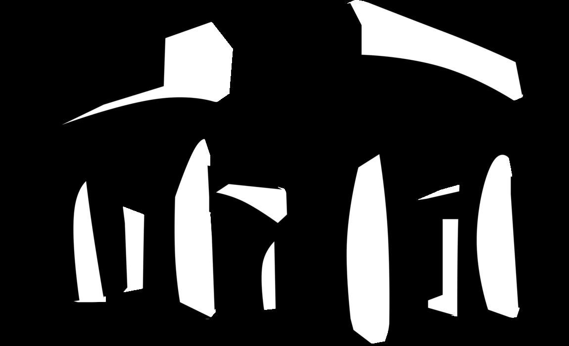 Stonehenge monument vector image. History clipart bronze age